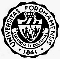 0098163 © Granger - Historical Picture ArchiveSEAL: FORDHAM UNIVERSITY.   Seal of Fordham University in New York City.