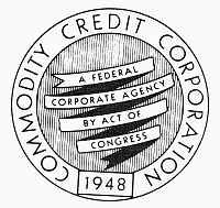 0099029 © Granger - Historical Picture ArchiveCOMMODITY CREDIT AGENCY.   Seal of the U.S. Commodity Credit Corporation, established to stabilize farm income and prices.