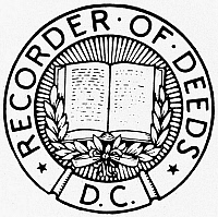 0099096 © Granger - Historical Picture ArchiveSEAL: RECORDER OF DEEDS.   Seal of the U.S. Recorder of Deeds.