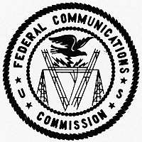 0099105 © Granger - Historical Picture ArchiveCOMMUNICATIONS COMMISSION.   Seal of the U.S. Federal Communications Commission (FCC).