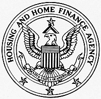 0099128 © Granger - Historical Picture ArchiveHOME FINANCE AGENCY.   Seal of the U.S. Housing and Home Finance Agency.