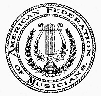 0099172 © Granger - Historical Picture ArchiveFEDERATION OF MUSICIANS.   Seal of the American Federation of Musicians (AFM).