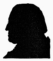 0099863 © Granger - Historical Picture ArchiveGEORGE WASHINGTON   (1732-1799). First President of the United States. 18th century silhouette.