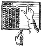 0013765 © Granger - Historical Picture ArchiveABACUS, 19th CENTURY.   Line engraving.