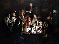 0026681 © Granger - Historical Picture ArchiveAIR-PUMP EXPERIMENT, 1768.   'An Experiment on a Bird in the Air Pump.' Oil on canvas, 1768, by Joseph Wright of Derby. RESTRICTED OUTSIDE US.