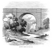 0066753 © Granger - Historical Picture ArchiveCROTON AQUEDUCT, 1860.   Spanning a stream near Sing Sing Prison, New York: wood engraving, American, 1860.