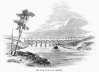 0102175 © Granger - Historical Picture ArchiveCROTON AQUEDUCT, 1860.   High bridge of the Croton Aqueduct over the Harlem River. Wood engraving, American, 1860.