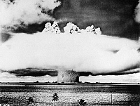0171985 © Granger - Historical Picture ArchiveATOMIC BOMB TEST, 1946.   Atomic bomb test at Bikini Atoll in the Pacific Ocean, 25 July 1946.