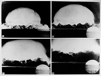 0171986 © Granger - Historical Picture ArchiveFIRST ATOMIC BOMB, 1945.   Sequence of photographs recorded by a U.S. Army motion picture camera, of the first atomic bomb explosion at Alamogordo, New Mexico, 16 July 1945.
