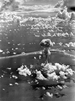 0408553 © Granger - Historical Picture ArchiveATOMIC BOMB TEST, 1946.  American atomic bomb test at Bikini Atoll in the Pacific Ocean. Photograph, July 1946.