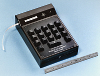 0115223 © Granger - Historical Picture ArchiveHAND-HELD CALCULATOR, 1967.   The first electric hand-held calculator, known as the Cal-Tech, invented at Texas Instruments in 1967 by Jack S. Kilby, Jerry D. Merryman, and James Van Tessel.