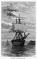 0038867 © Granger - Historical Picture ArchiveST ELMO'S FIRE, 1869.   'Electric Coruscations at Sea.' Wood engraving, 1869.