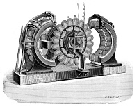 0047899 © Granger - Historical Picture ArchiveALTERNATING-CURRENT DYNAMO.   Built by the English physicist Sebastian Ziani de Ferranti (1864-1930), late 19th century.