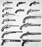 0032452 © Granger - Historical Picture ArchivePISTOL AND REVOLVERS.