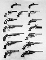 0102074 © Granger - Historical Picture ArchivePISTOLS AND REVOLVERS.   A selection of handguns.