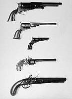 0102078 © Granger - Historical Picture ArchivePISTOLS AND REVOLVERS.   A selection of handguns.