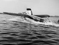 0120853 © Granger - Historical Picture ArchiveFLYING SUBMARINE, 1967.   An American experimental flying submarine invented by Walter Reid, taking off after having been submerged. Photograph, 1967.