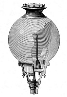 0083067 © Granger - Historical Picture ArchiveYABLOCHKOV CANDLE.   Diagram of a globe light containing a Yablochkov candle, patented by Pavel Yablochkov in 1876. Wood engraving, French, late 19th century.