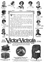 0056034 © Granger - Historical Picture ArchivePHONOGRAPH AD, 1912.   Victor-Victrola phonographs. American magazine advertisement, 1912.