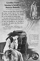 0080156 © Granger - Historical Picture ArchivePHONOGRAPH, 1914.   American magazine advertisement, 1914, for the Victor Talking Machine Company, featuring opera singer Geraldine Farrar.