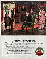 0080160 © Granger - Historical Picture ArchivePHONOGRAPH, 1914.   American magazine advertisement, 1914, for the Victor Talking Machine Company.