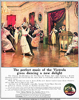 0080161 © Granger - Historical Picture ArchivePHONOGRAPH, 1914.   American magazine advertisement, 1914, for the Victor Talking Machine Company.