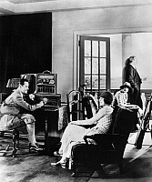 0175880 © Granger - Historical Picture ArchiveRADIOLA RADIO, c1926.   People listening to an RCA Radiola portable radio. Photograph, c1926.