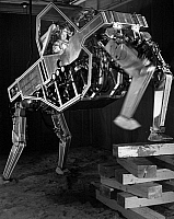 0176278 © Granger - Historical Picture ArchiveROBOT QUADRUPED, 1969.   A prototype robotic quadruped machine developed by General Electrc for the U.S. Army, designed to improve the mobility and materials-handling capabilites of soldiers. Photograph, 1969.