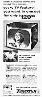 0016424 © Granger - Historical Picture ArchiveEMERSON TELEVISION, 1954.   American magazine advertisement.