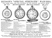 0017505 © Granger - Historical Picture ArchivePOCKET WATCHES, 1884.   Advertisement, English, 1884.