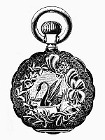 0080363 © Granger - Historical Picture ArchivePOCKET WATCH, 19th CENTURY.   Design for a gold watch back, 19th century.