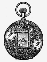 0080364 © Granger - Historical Picture ArchivePOCKET WATCH, 19th CENTURY.   Design for a gold watch back, 19th century.
