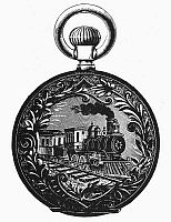 0080407 © Granger - Historical Picture ArchivePOCKET WATCH, 19th CENTURY.   Design for a gold watch back, 19th century.