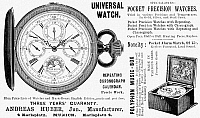 0090718 © Granger - Historical Picture ArchivePOCKET WATCH, 1897.   English newspaper advertisement, 1897.