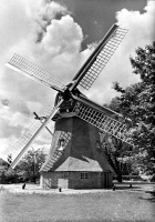 0029466 © Granger - Historical Picture ArchiveGERMANY: WINDMILL, 1866.   An East Frisian Island windmill built in 1866. Photograph, c1960.