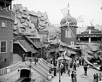 0131133 © Granger - Historical Picture ArchiveCONEY ISLAND: WINDMILL.   The Old Mill at Luna Park amusement park, Coney Island, Brooklyn, New York. Photograph, c1905.