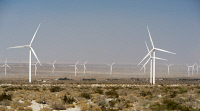 0620176 © Granger - Historical Picture ArchiveCALIFORNIA: WIND FARM,   2014. Siemens wind turbines at the Ocotillo Wind Energy Facility in the Imperial Valley of California. Photograph, 12 April 2014. Full Credit: ullstein bild - Dünzl / Granger, NYC.
