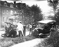 0051782 © Granger - Historical Picture ArchiveAUTO ACCIDENT.   An accident involving two Ford Model T's.