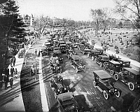 0002822 © Granger - Historical Picture ArchiveTRAFFIC SCENE.   A Sunday afternoon in Forest Park, St. Louis, Missouri, in the 1920s.