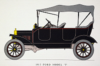 0008934 © Granger - Historical Picture ArchiveAUTO: MODEL T FORD, 1915.   Model T Ford with touring body, 22 HP.