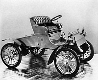0041671 © Granger - Historical Picture ArchiveMODEL A FORD, 1903.   The first automobile produced by the Ford Motor Company, the Model 'A', in production from June 1903 to October 1904.