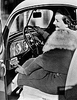 0099012 © Granger - Historical Picture ArchiveCAR RADIO, c1940.   The Crosley Safety-Tune Fiver Roamio Automobile radio receiver. Photographed c1940.