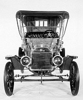 0102578 © Granger - Historical Picture ArchiveMODEL T FORD, 1910.   Model T Ford with brass radiator, head lamps and fittings and a cherry-wood dash, 1910.