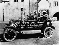 0175095 © Granger - Historical Picture Archive10 MILLIONTH FORD, 1924.   American actors Douglas Fairbanks and Mary Pickford in California after driving from New York City, as publicity for the 10 millionth Ford automobile made. Photograph, 13 September 1924.