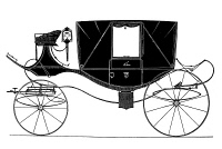 0041380 © Granger - Historical Picture ArchiveCARRIAGE: LANDAU.   The Landau, a carriage which originated in Germany in the first half of the 18th century and remained in use until the advent of the automobile. Line engraving, 1870.