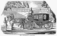 0099056 © Granger - Historical Picture ArchiveFIRST LADY CARRIAGE, 1851.   Carriage of Abigail Fillmore, wife of President Millard Fillmore.