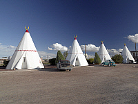 0126640 © Granger - Historical Picture ArchiveWIGWAM MOTEL, 2006.   The Wigwam Motel along Route 66 in Holbrook, Arizona. Photograph by Carol M. Highsmith, October 2006.