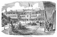 0268581 © Granger - Historical Picture ArchiveFRANCE: HOTEL BRIGHTON.   The Hotel Brighton, in Boulogne, France. Wood engraving, English, 1854.