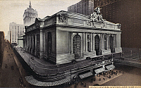 0092020 © Granger - Historical Picture ArchiveGRAND CENTRAL STATION.   The railroad station, completed in 1913, at 42nd Street and Park Avenue in New York City. American postcard, c1930.