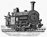 0062131 © Granger - Historical Picture ArchiveENGLAND: LOCOMOTIVE, 1863.   A locomotive designed by Fell, 1863, for the railway in Derbyshire, England, from Cromfort to High Peak. Wood engraving, French, 19th century.